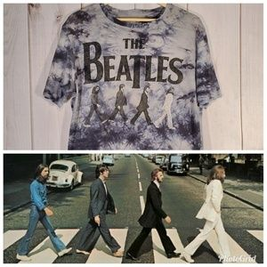 Abby Road The Beatles Band Graphic Tee Tie-Dye
